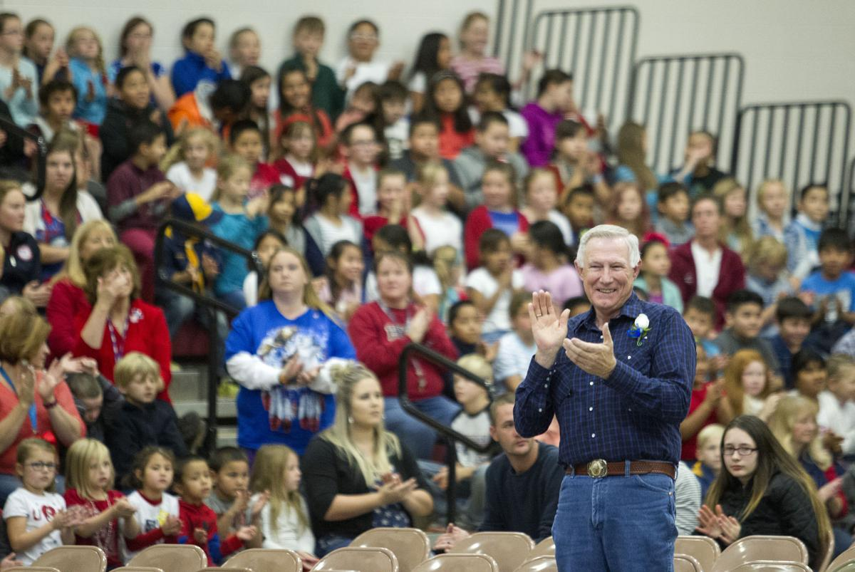 Veterans Day assembly in Shoshone