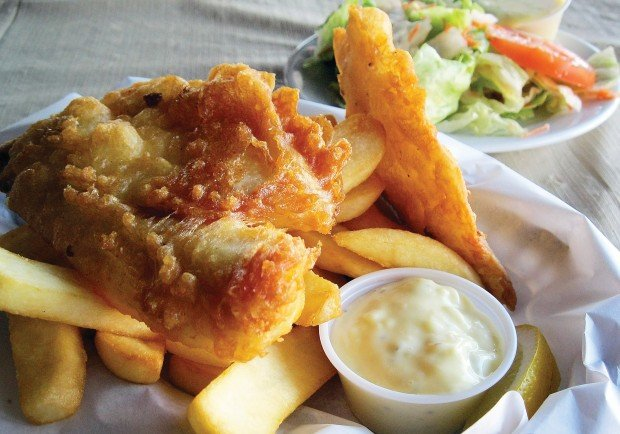 The frugal lunch fish and chips food for 99 5 the fish