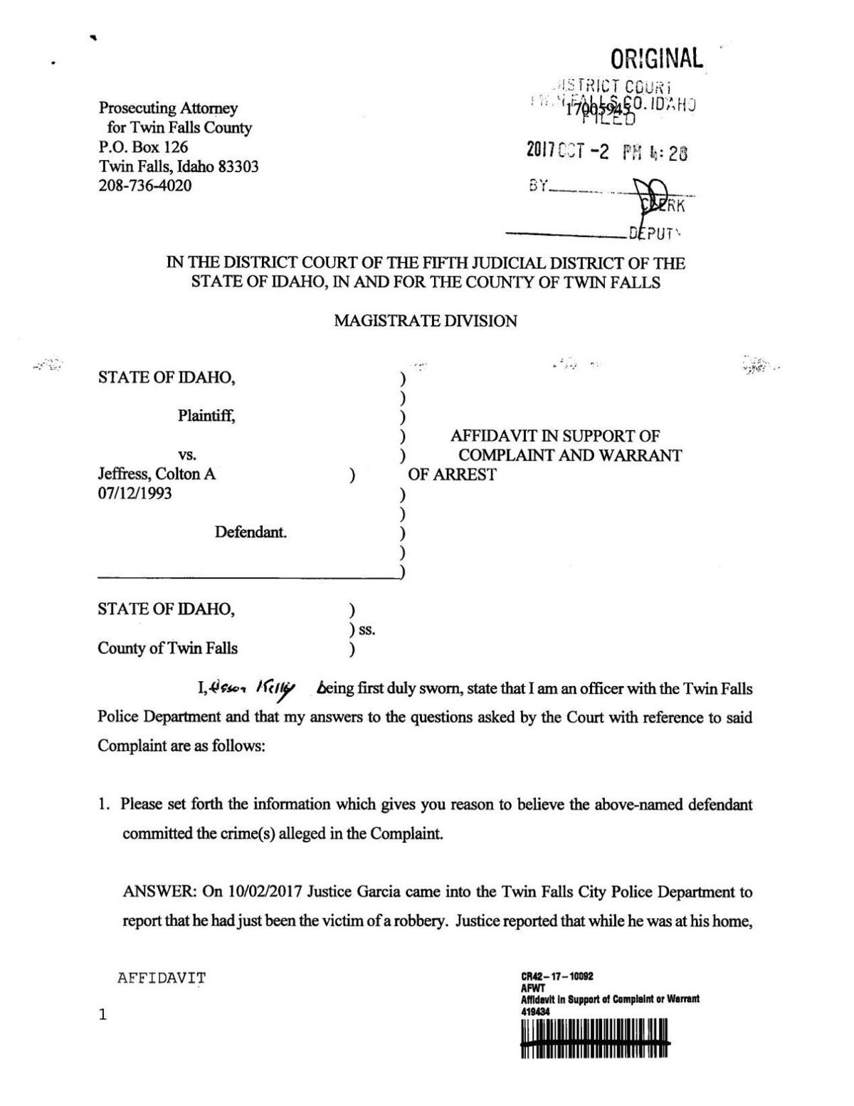 how to write an affidavit letter for court