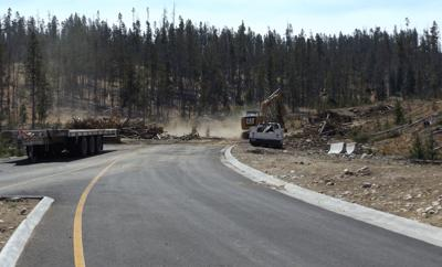 Redfish Lake road reconstruction