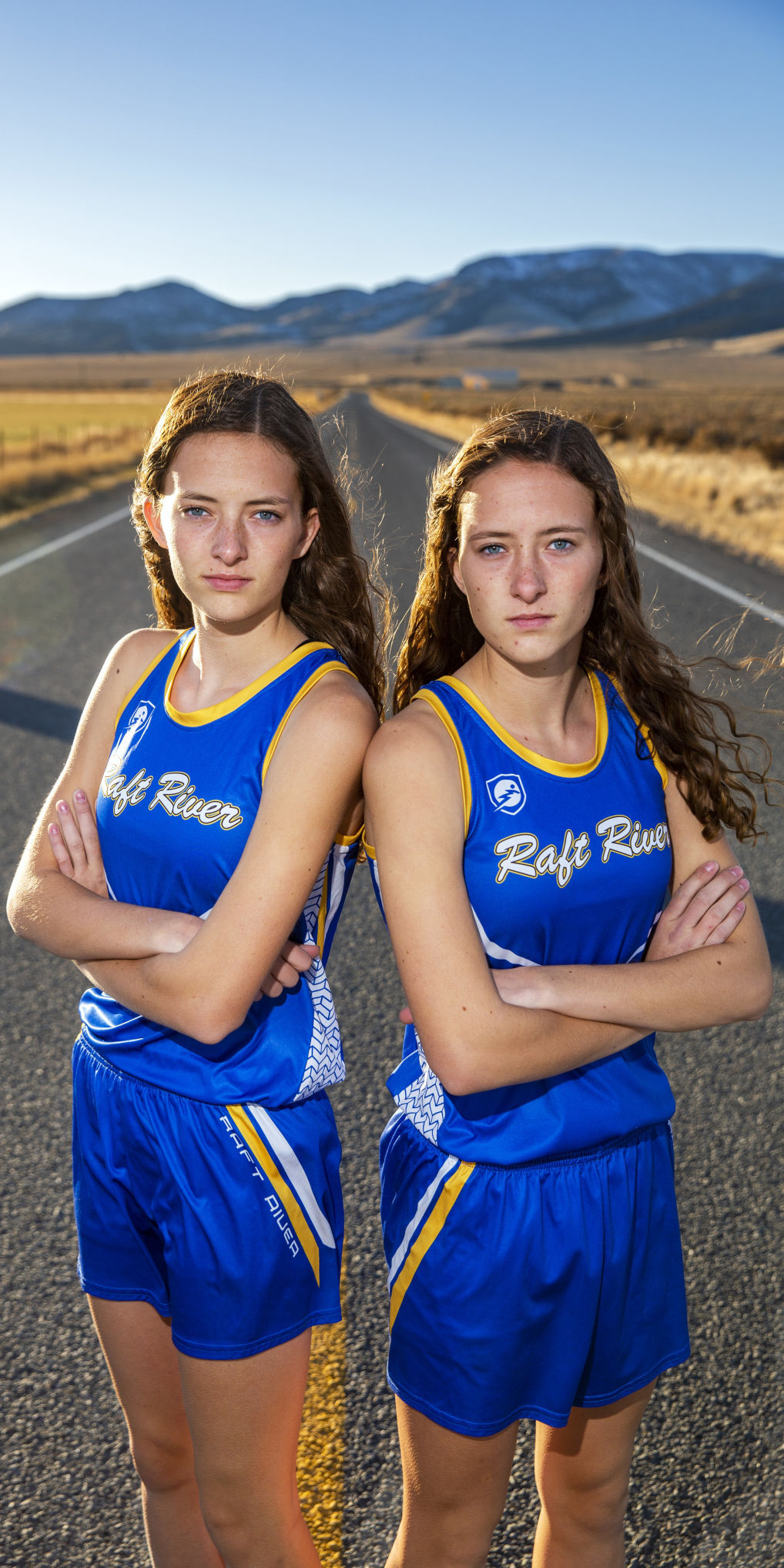 Karlee and Kaybree Christensen, runners of the year