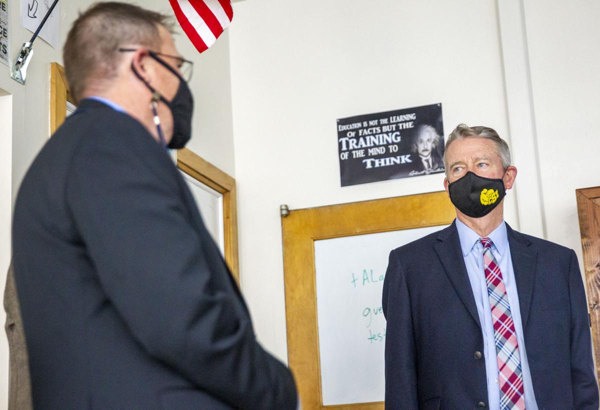 Gov. Little tours Twin Falls High School