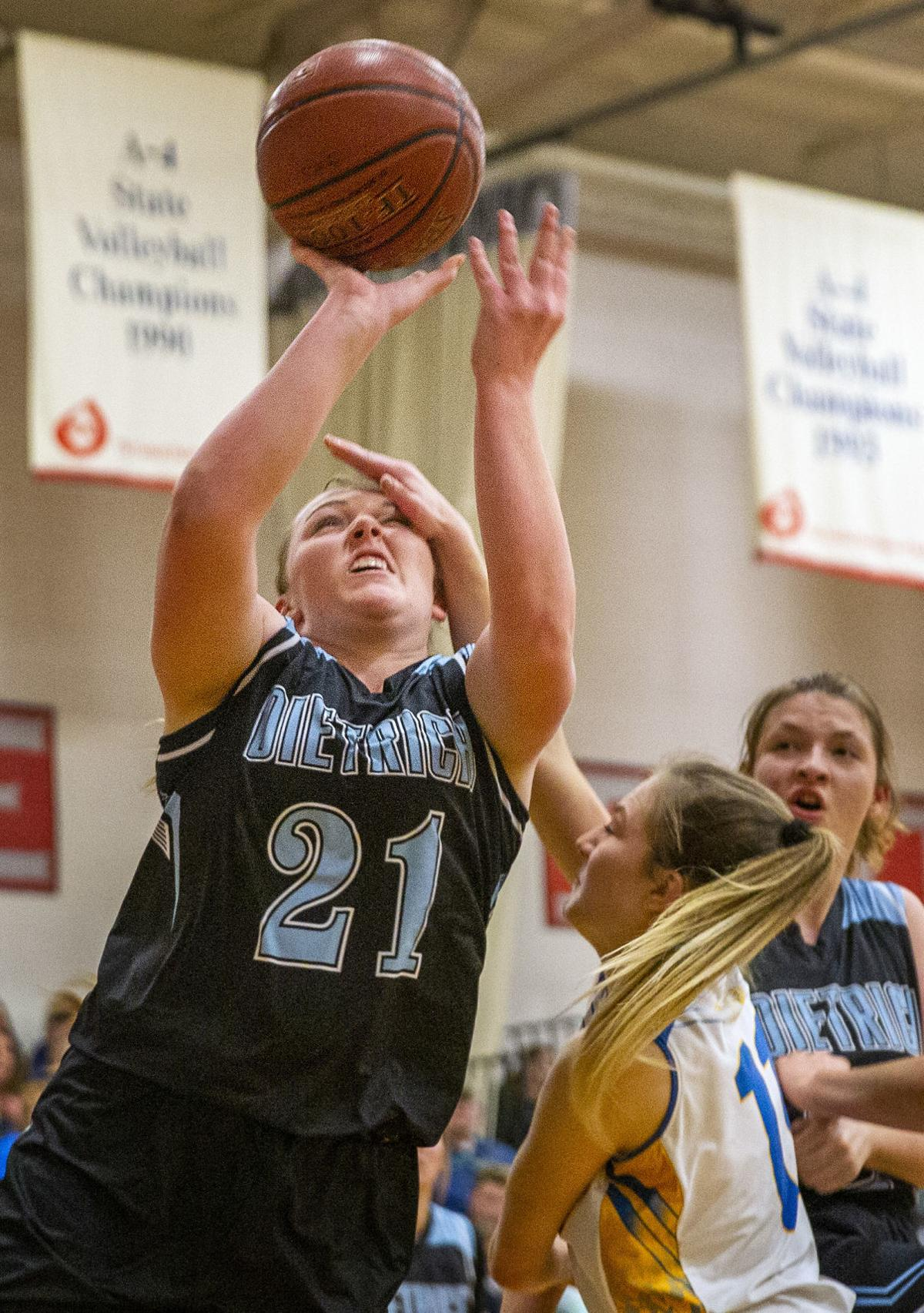 Carey vs Dietrich girls basketball