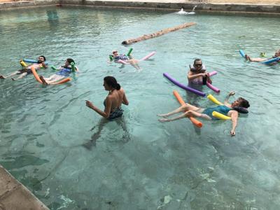 Aqua yoga at Banbury Hot Springs
