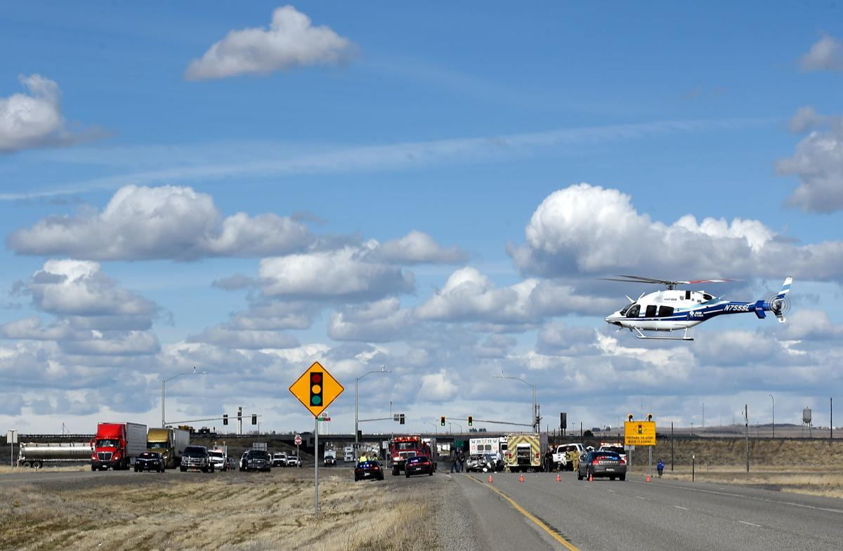 UPDATE: Road reopened after 4-vehicle crash blocks U S  93