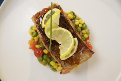 Chili-glazed salmon with succotash: Sweet, spicy, colorful and healthy all in one