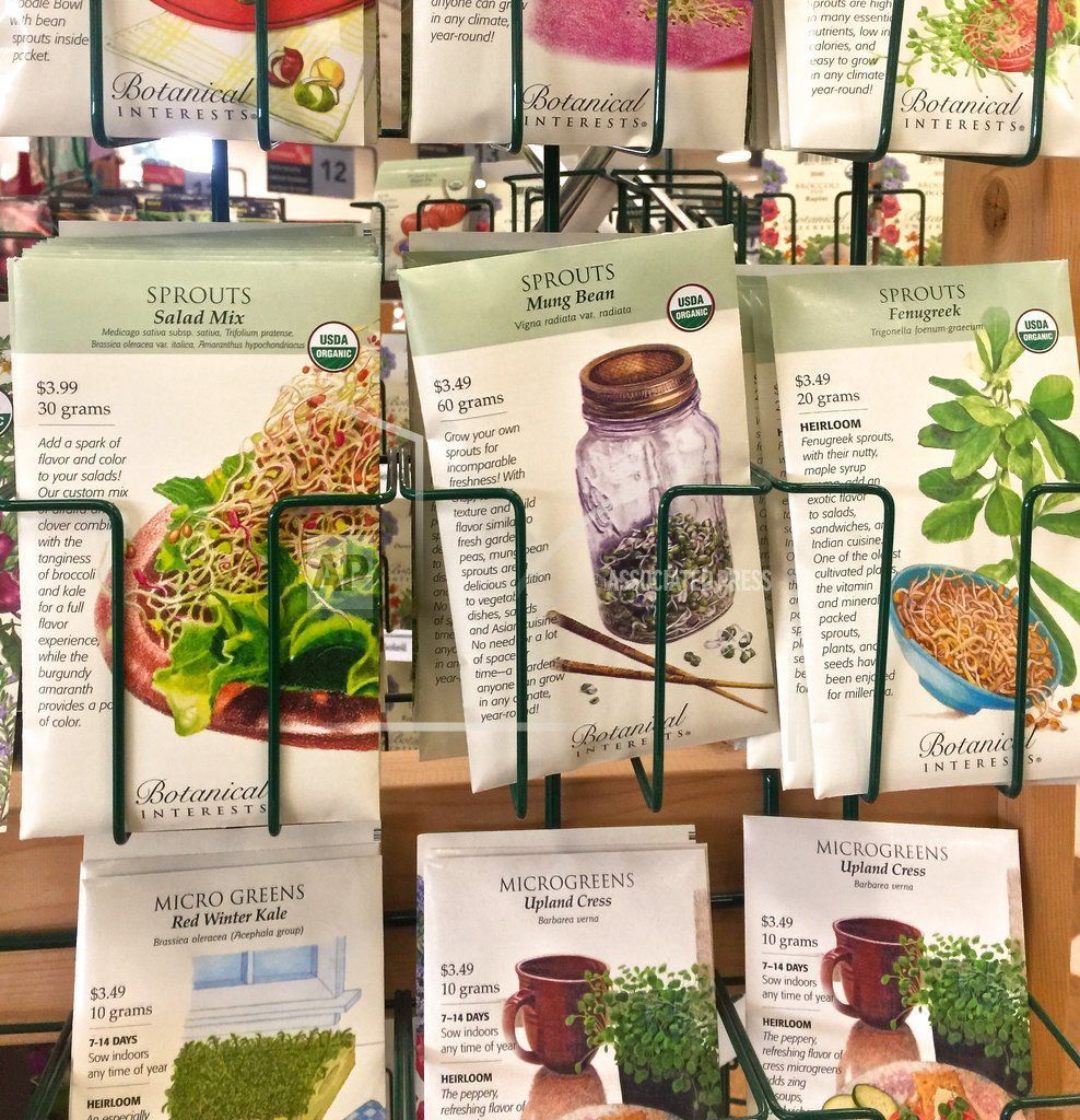Gardening Seed Packets