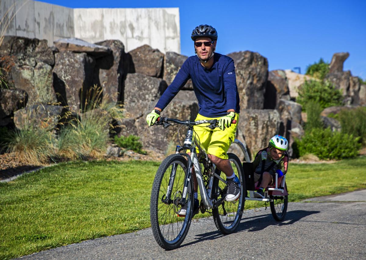 Biking with Jonathan