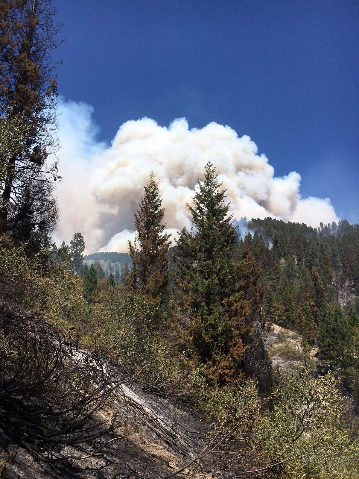 Wildfire burning southwest Idaho