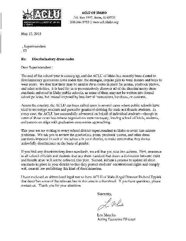 Sample letter to school districts | | magicvalley.com