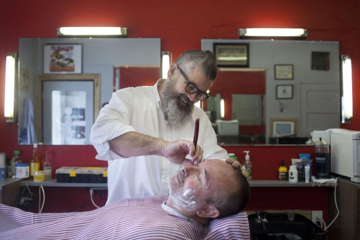Man Cave Barber Rosemount : Man cave part of barbershop comeback southern idaho