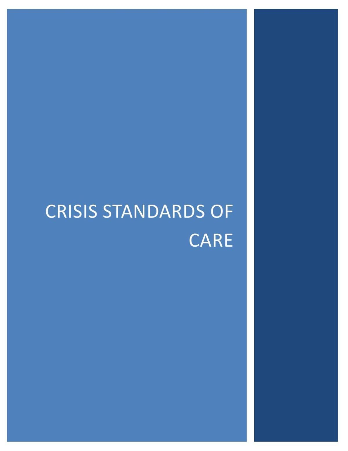 Crisis Standards of Care Plan