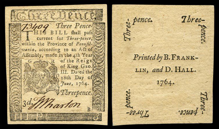 Three-pence note