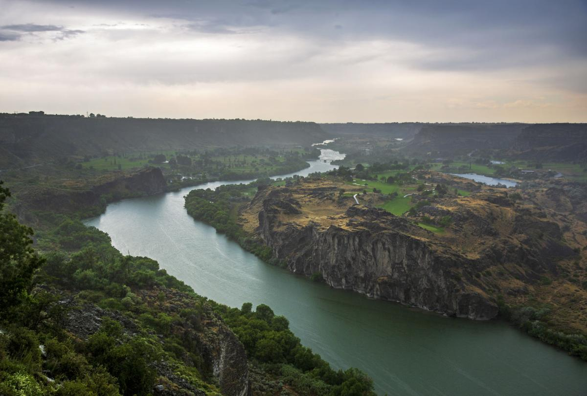 A stormy day in Twin Falls