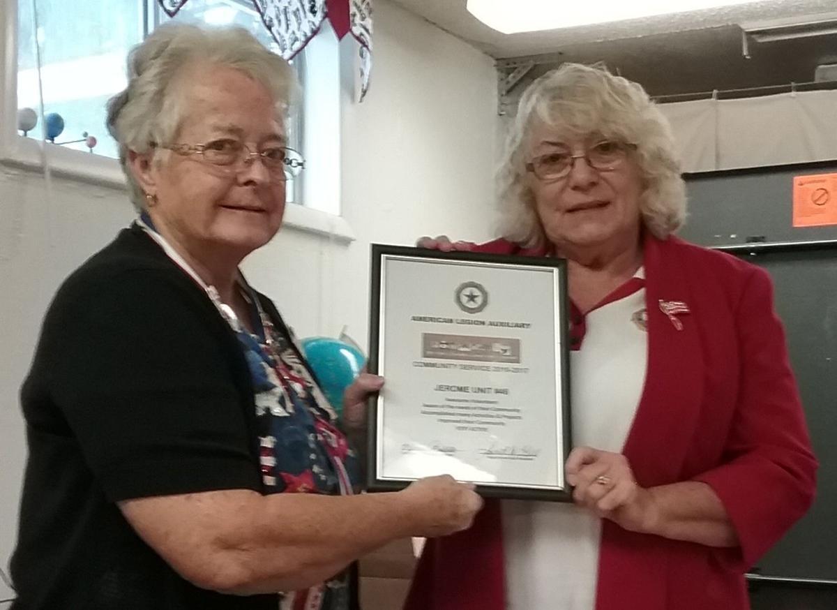 Jerome auxiliary volunteering award