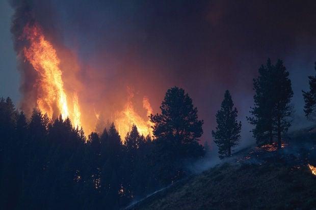 4 P M Update Elk Fire Complex Burns Near Pine Businesses