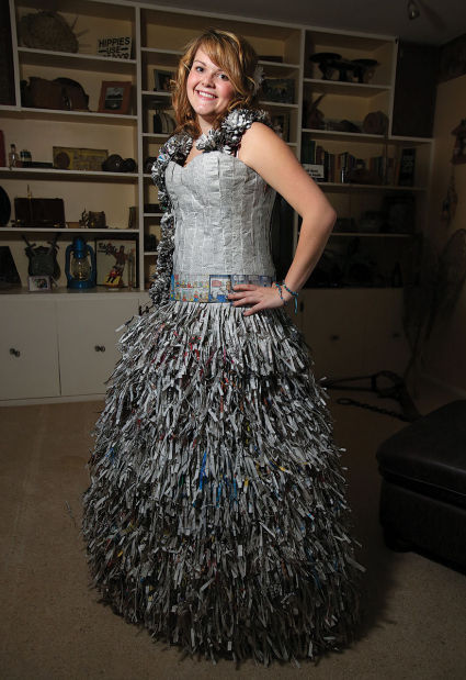 Your Neighbor Teen Designs Dress From Newspaper Local Magicvalley Com