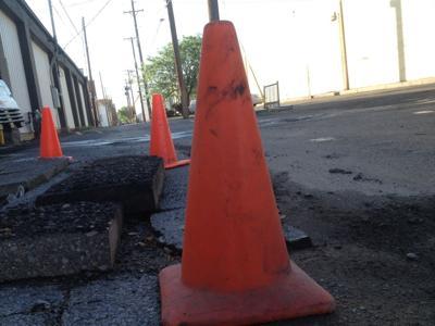 Road Work Traffic Cone