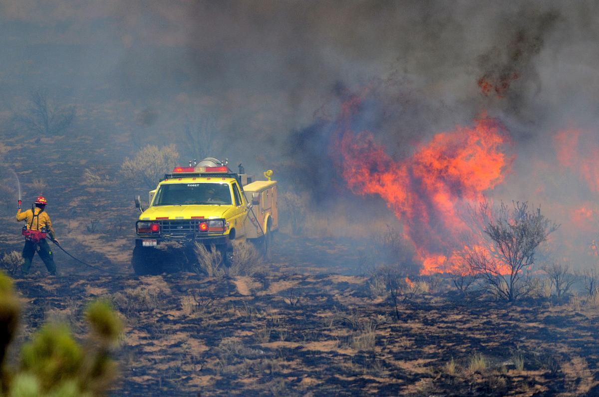 Wildfire Along U.S. 26