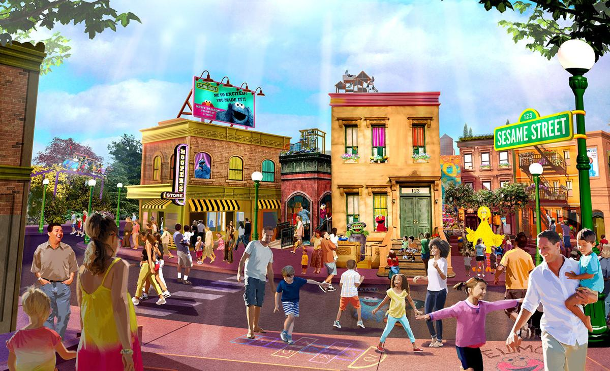 Among the sights at SeaWorld's Sesame Street will be Mr. Hooper's store.