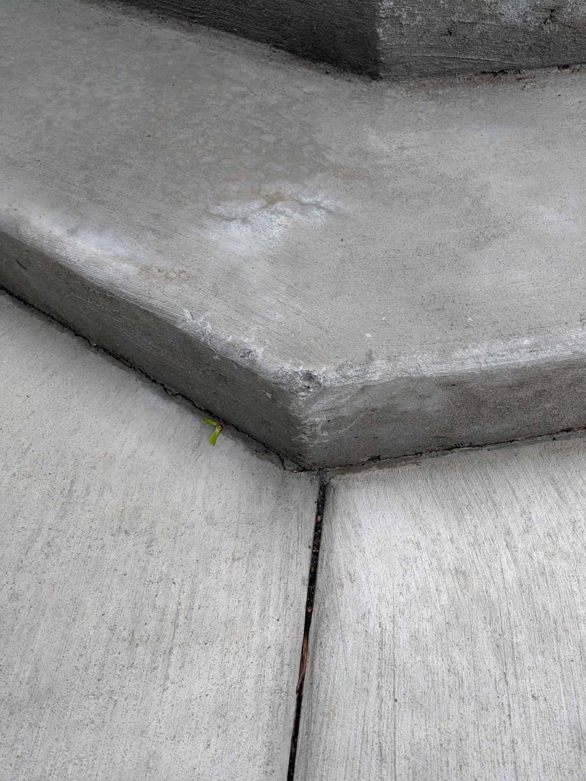 Concrete chipped