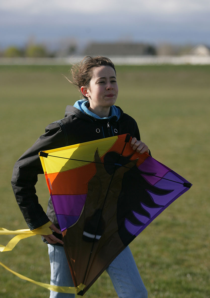Kites Battle Gusty Winds