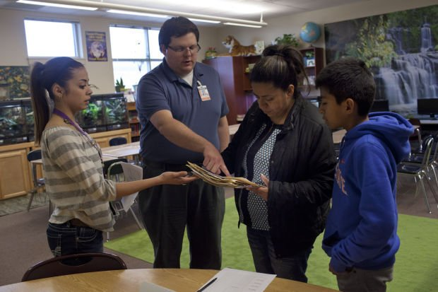 Latinos In Action translate for parent-teacher conferences