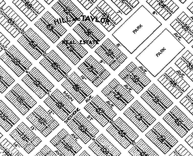 Original street map of Twin Falls