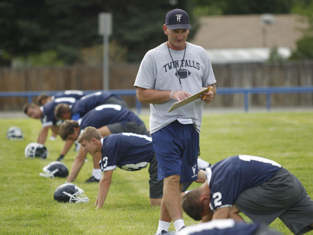 Twin Falls High School Football Practice