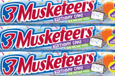 3 Musketeers Launches New Birthday Cake Flavor