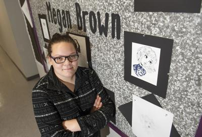 Student Megan Brown does it all