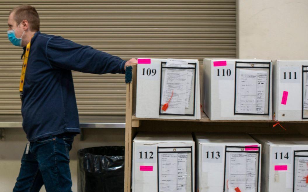 Boxes of ballots
