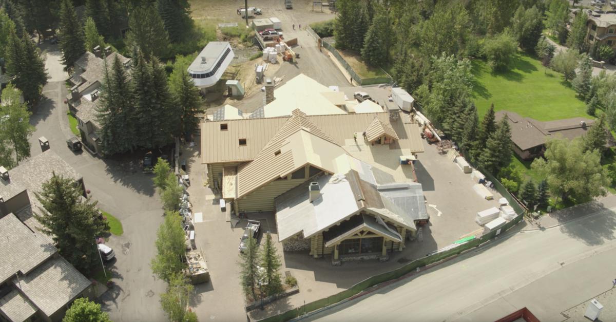 Warm Springs Lodge aerial