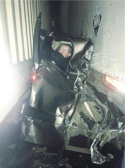 Trucker's Amazing Photo Shows How Lucky I-84 Pileup Survivor