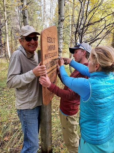 Gov. Cecil D. Andrus wilderness signs