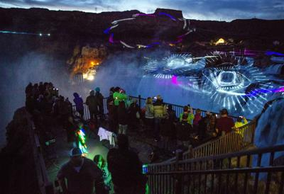 Lights and Lasers at Shoshone Falls
