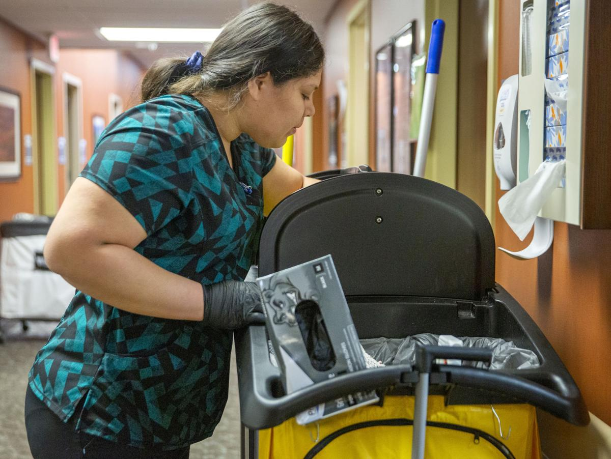 Cleaning the hospital