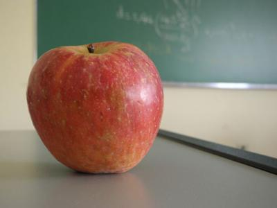 Teacher apple classroom