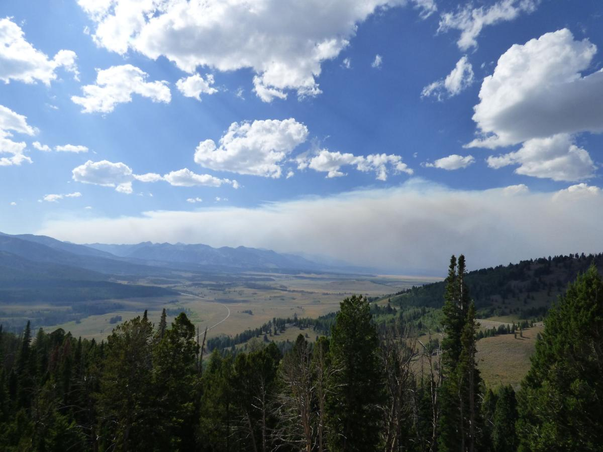 Smoke plume from Pioneer fire