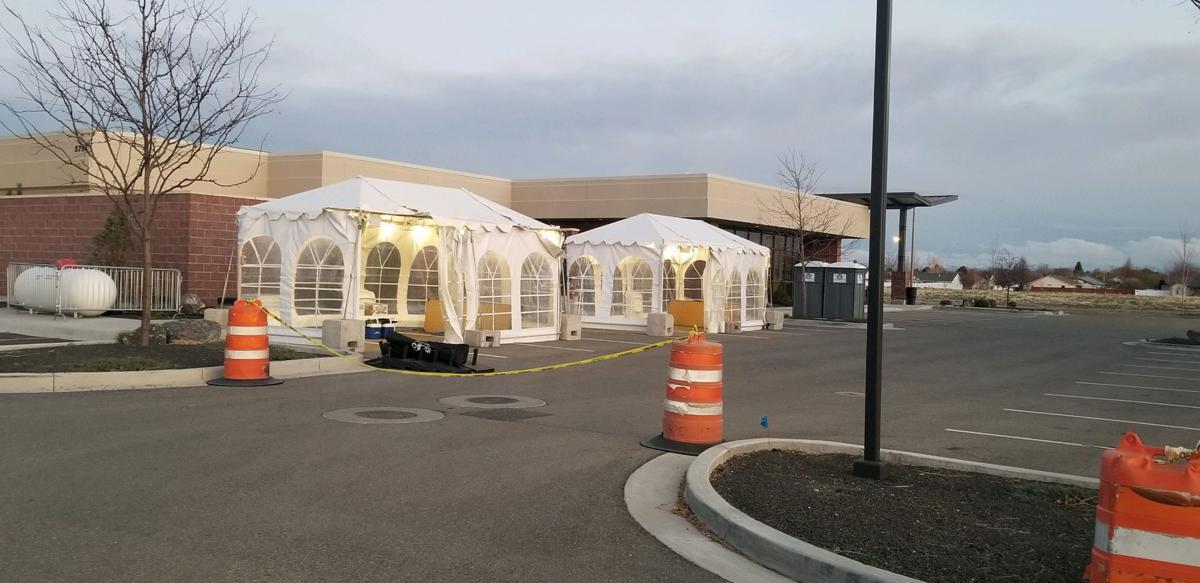 St. Luke's coronavirus testing tents
