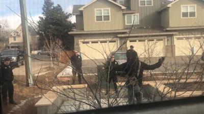 Boulder Police confront man
