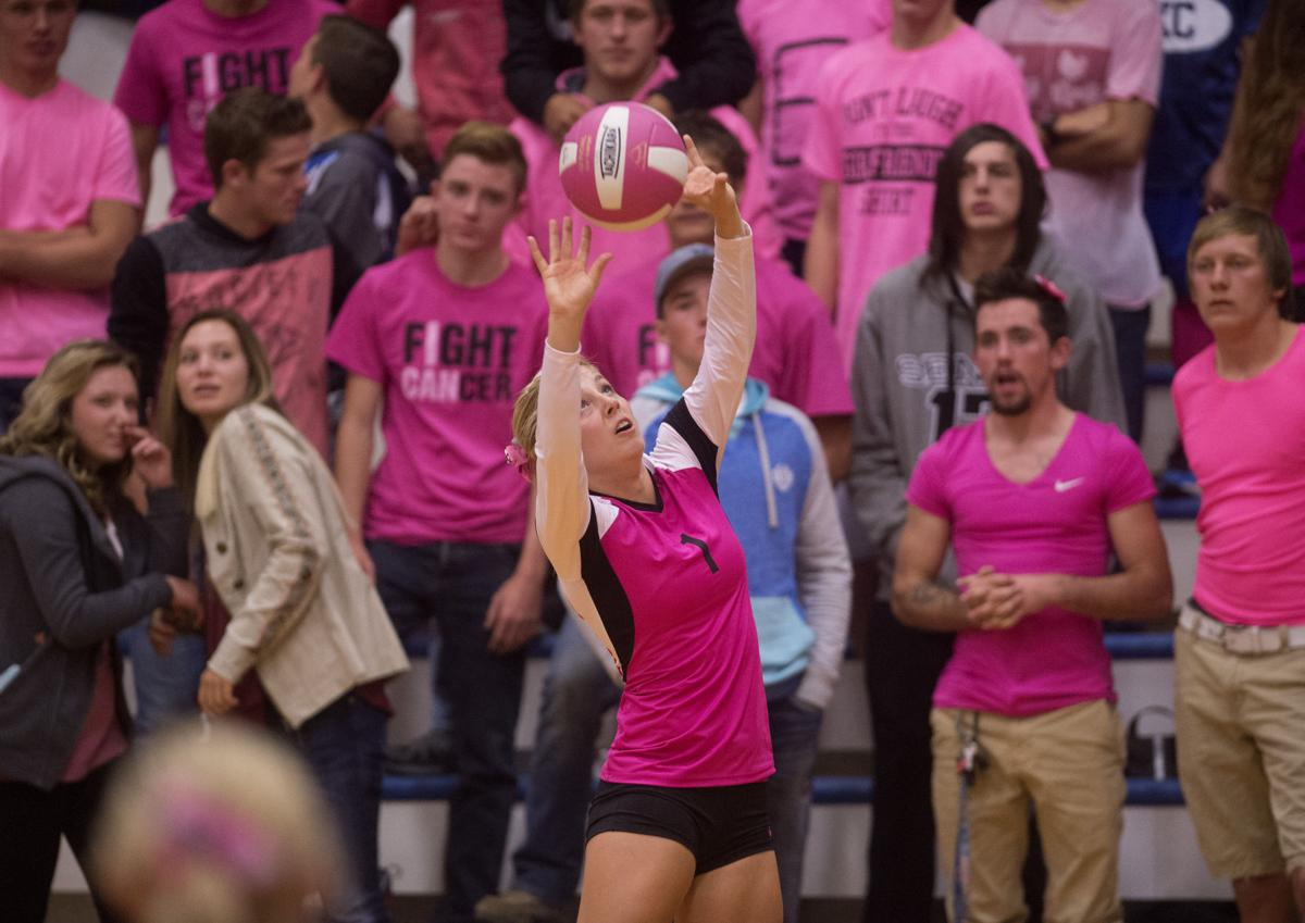 Dig Pink night at Valley High School
