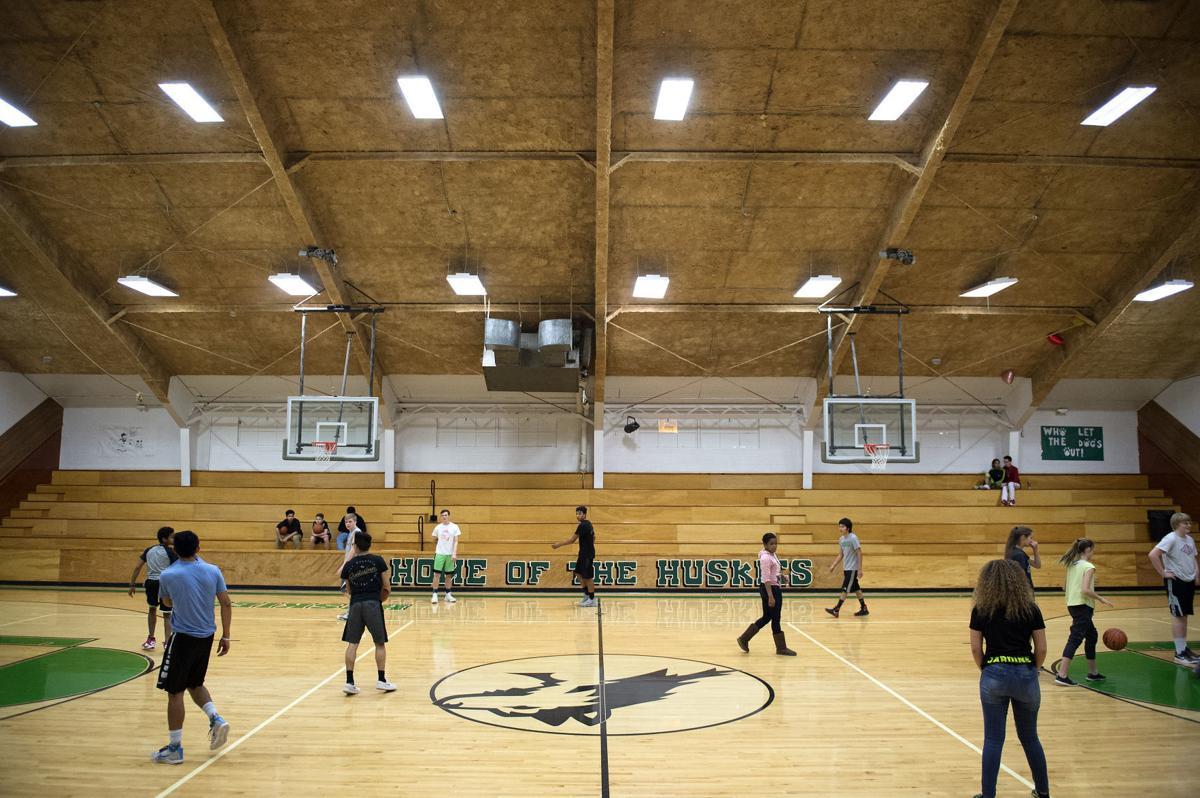 Community gymnasium.