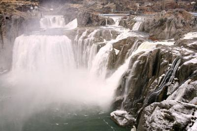 Shoshone Falls in winter