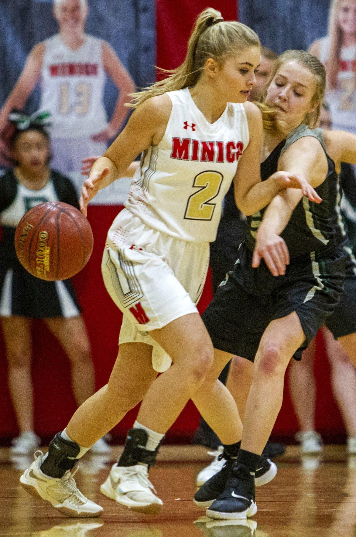 Minico vs Burley girls basketball