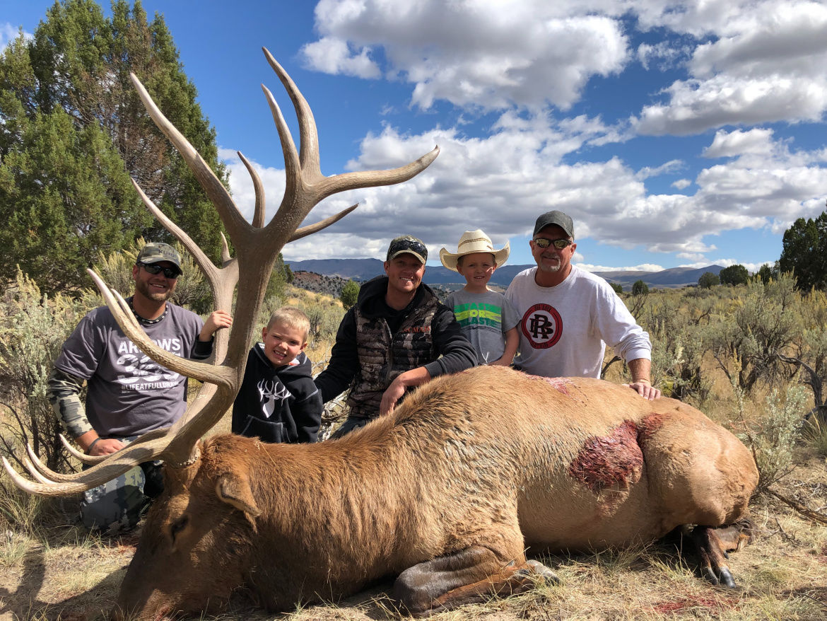 Chase Ashcroft and elk
