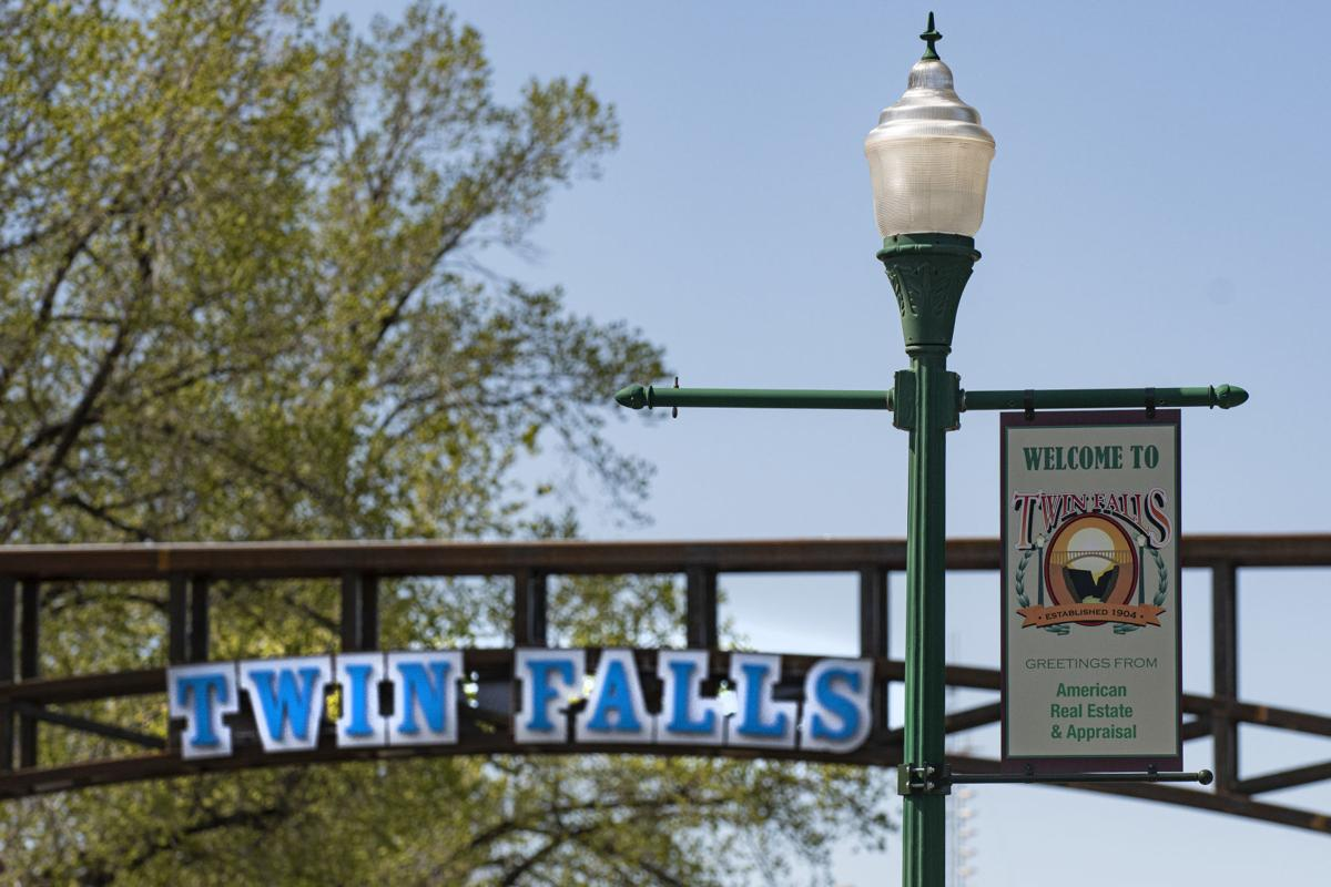 Twin Falls archway nearing completion