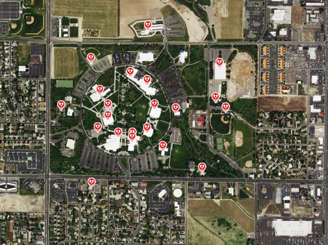 AED locator map