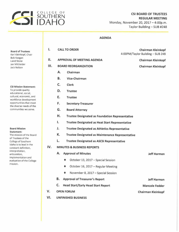 Nov. 20 CSI board packet