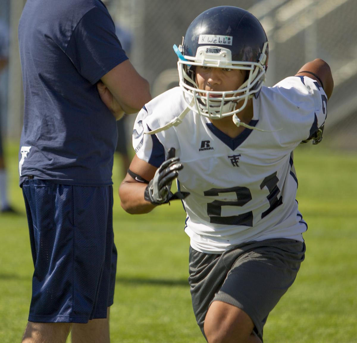 Twin Falls football practice